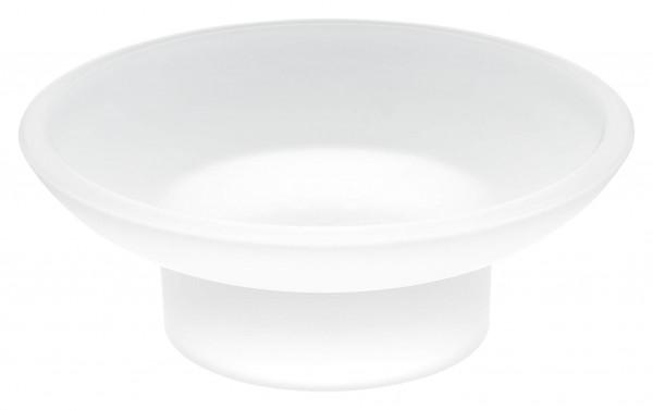 ekkro rundes Seifenschalen Ersatzglas, satiniert