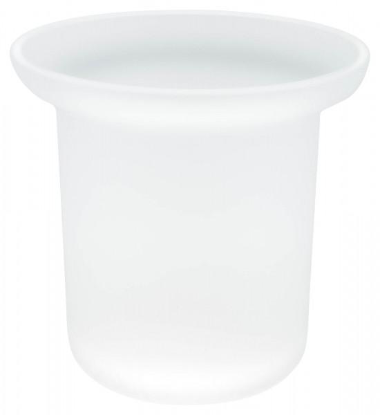 EKKRO Glas-Ersatz für satinierte Klobürstenhalter