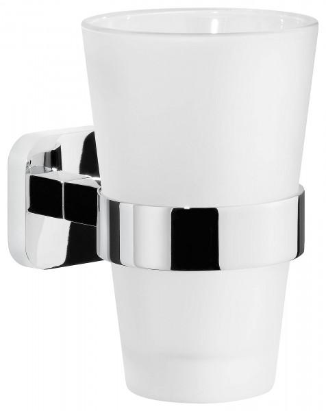 ELEGAANT Zahnbürstenhalter, Metall, verchromt, inkl. Klebelösung