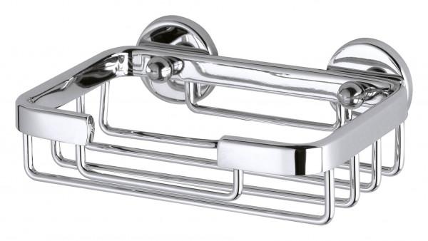 ALUXX kleine Seifenschale mit Wandhalterung, Aluminium