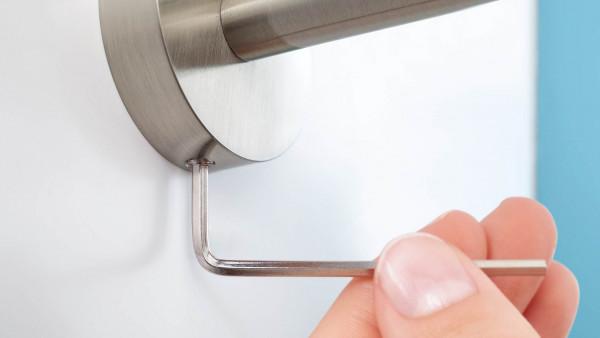 Handtuchhalter zweiarmig schwenkbar in Edelstahloptik