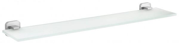 ESTEETIC Glasablage, Edelstahloptik, inkl. Klebelösung, 60cm