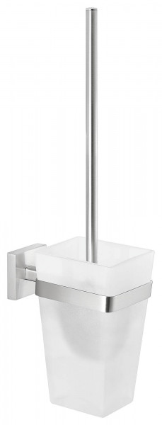 EXXCLUSIV Toilettenbürstenhalter ohne Bohren, Edelstahloptik