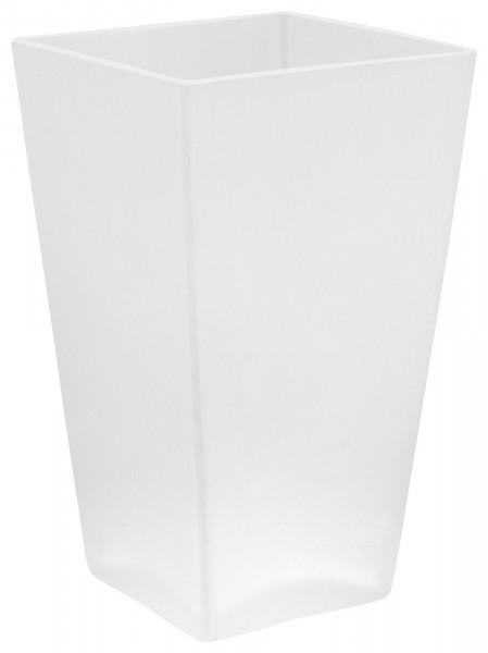 DELUXXE Ersatzglas für WC-Bürste, satiniert, viereckig