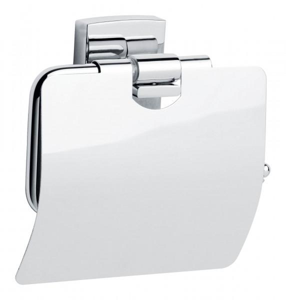 klaam verchromter Toilettenpapierhalter mit Deckel