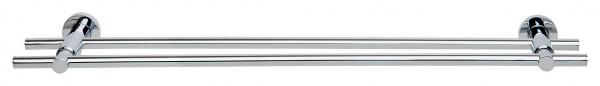 LOXX doppelte Handtuchstange aus Chrom in 70 cm Länge