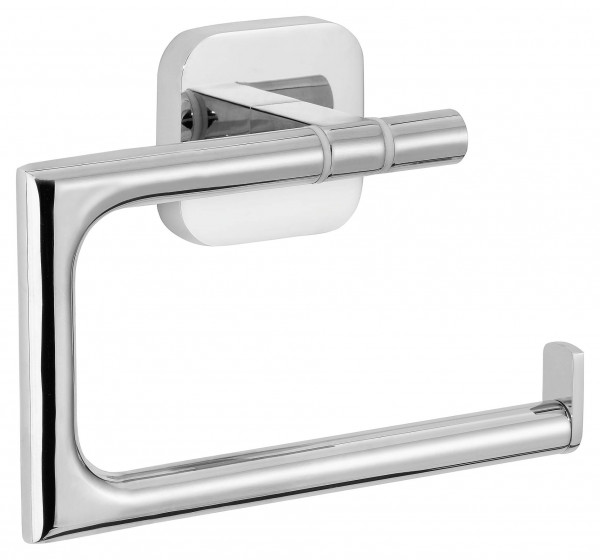 ELEGAANT Toilettenpapierhalter, ohne Deckel, Metall, verchromt, inkl. Klebelösung