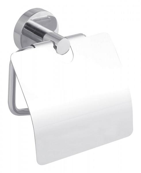 SMOOZ WC Papierhalter mit Deckel und Chrom-Oberfläche