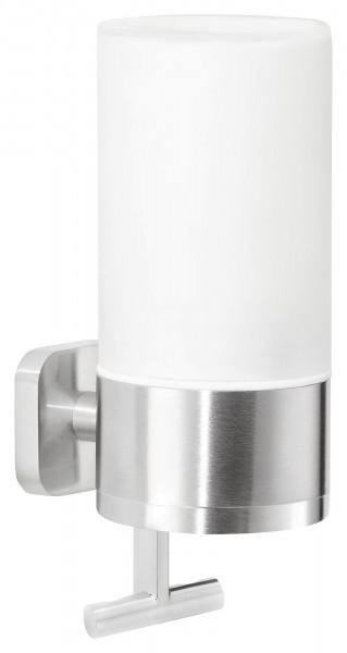 ESTEETIC Seifenspender (230ml), Edelstahloptik, Klebelösung