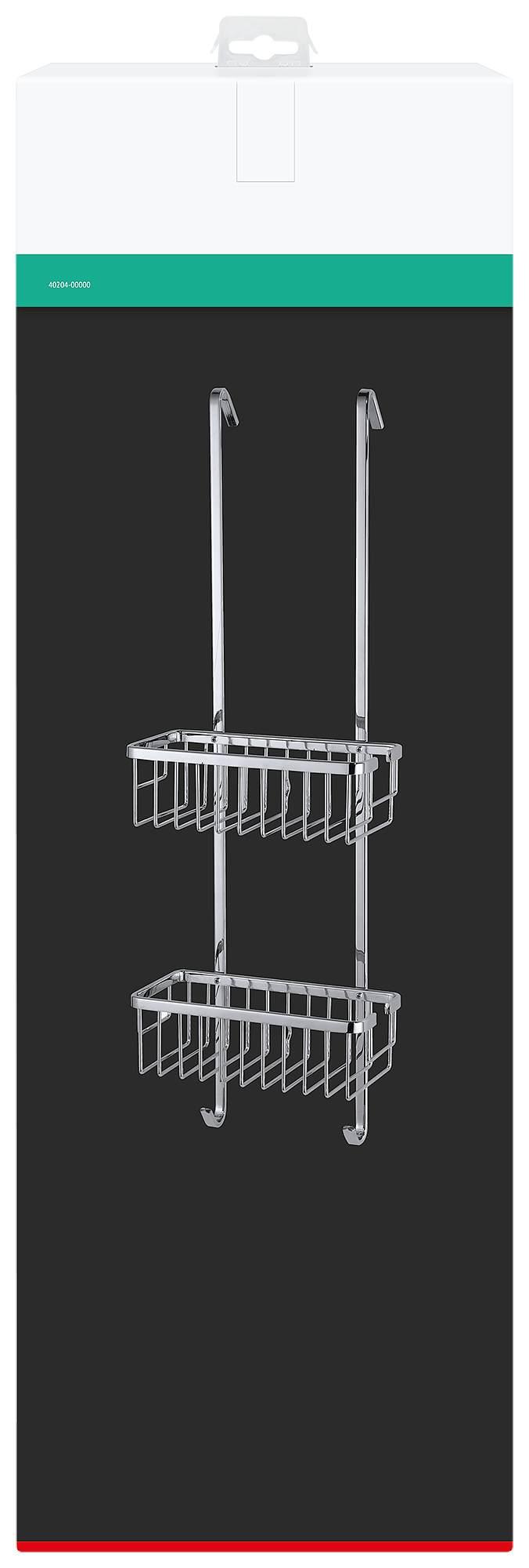 duschregal zum h ngen rostfrei zweist ckig und 7 5 cm hoch. Black Bedroom Furniture Sets. Home Design Ideas