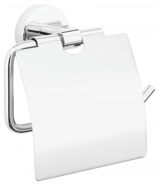 EXXCELLENT WC Papierhalter verchromt mit Deckel