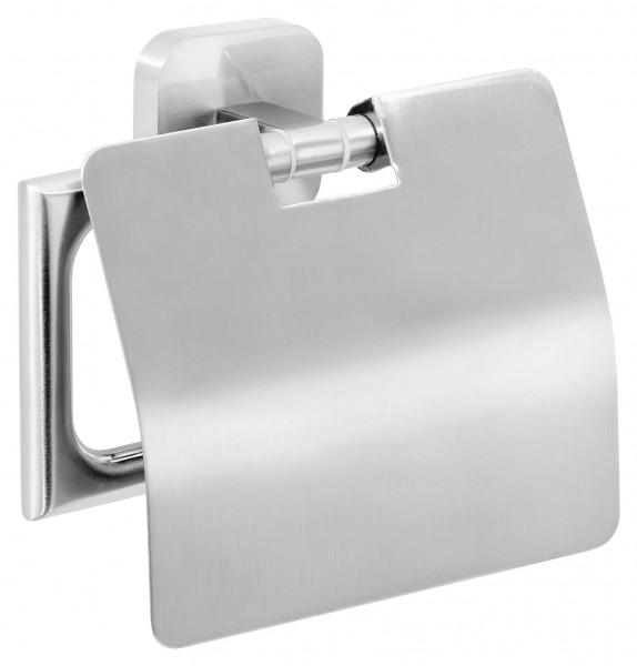 ESTEETIC Toilettenpapierhalter m. Deckel, inkl. Klebelösung