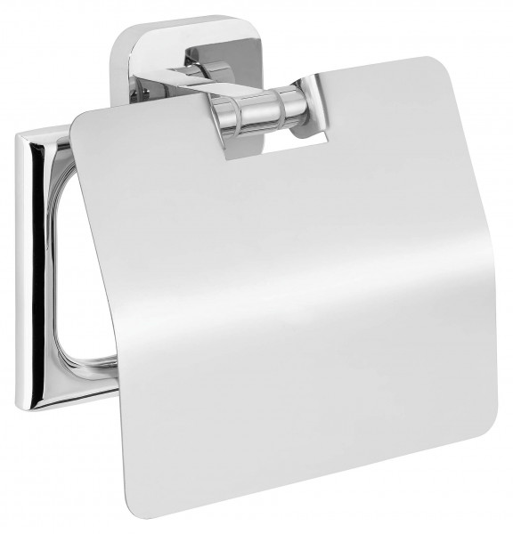 ELEGAANT Toilettenpapierhalter m. Deckel, inkl. Klebelösung